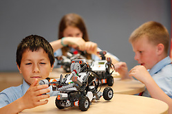 No fee for Repro: 20/06/2012.?Getting Robotic?.David Oleman, Lucy Hiseman and Derek Browne of St Philips School, Mountview Dublin just three of the 90 young students to complete their ten day programme at the ITB (Institute of Technology Blanchardstown) Robotics Summer School.  Pic Andres Poveda.