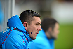 ANTHONY JOHNSON JOINT MANAGER SALFORD CITY FC, Brackley Town v Salford City St James Park, Vanarama National League North, Saturday 27th January 2018 Score 2-0.
