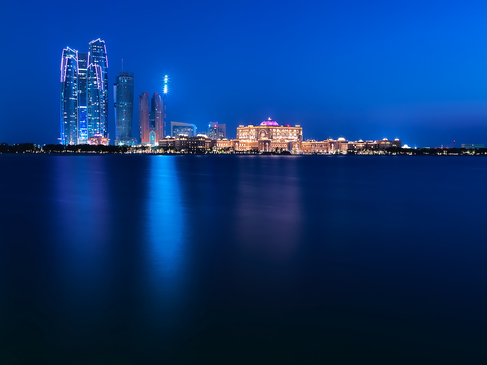 No other building in Abu Dhabi glistens at night quite like the Majestic Emirates Palace Kempinski Hotel