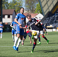 Dundee&rsquo;s Paul McGowan and Kilmarnock&rsquo;s Gary Dicker - Kilmarnock v Dundee in the Ladbrokes Scottish Premiership at Rugby Park, Kilmarnock, Photo: David Young<br /> <br />  - &copy; David Young - www.davidyoungphoto.co.uk - email: davidyoungphoto@gmail.com