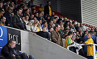 Photo: Paul Thomas.<br /> Stoke City v Norwich City. Coca Cola Championship. 28/10/2006.<br /> <br /> Norwich fans leave the match early.
