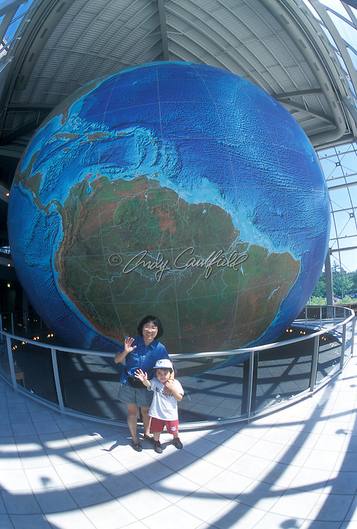 """Eartha"" World's largest rotating globe. 42 ft diameter. Located at Delorme Company-Yarmouth, Maine  USA..People Released. Location Not Released."