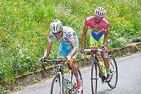 Aru Fabio / Contador Alberto - Astana / Tinkoff Saxo - 26.05.2015 - Tour d'Italie - Etape 16 - Pinzolo / Aprica<br />Photo : Pool / Sirotti / Icon Sport *** Local Caption ***
