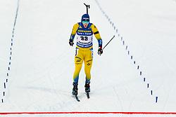March 9, 2019 - –Stersund, Sweden - 190309 Sebastian Samuelsson of Sweden crosses the finish line in the Men's 10 KM sprint during the IBU World Championships Biathlon on March 9, 2019 in Östersund..Photo: Johan Axelsson / BILDBYRÃ…N / Cop 245 (Credit Image: © Johan Axelsson/Bildbyran via ZUMA Press)