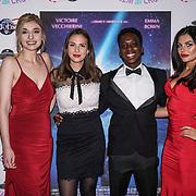 London, England, UK. 14th September 2017.Cast Victoire Vecchierini,Veronica Osimani,Franck Assi,Joanna Leigh Hewitt attend the Landing Lake Film Premiere at Empire Haymarket,London, UK.