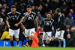 Manuel Lanzini of Argentina celebrates after scoring his sides second goal - Mandatory by-line: Matt McNulty/JMP - 23/03/2018 - FOOTBALL - Etihad Stadium - Manchester, England - Argentina v Italy - International Friendly