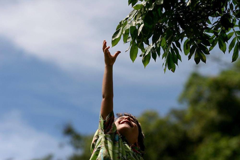 Belo Horizonte_MG, Minas Gerais...Garoto segurando uma arvore. ..A boy holding a tree in Belo Horizonte, Minas Gerais...Foto: MARCUS DESIMONI / NITRO..
