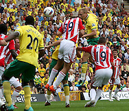 Ritchie De Laet of Norwich opens the scoring during the Barclays Premier League match at Carrow Road Stadium, Norwich, Norfolk...Picture by Paul Chesterton/Focus Images Ltd.  07904 640267.21/8/11