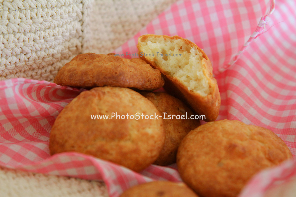 freshly baked Boyikos (aka Boyos de Queso) – Sephardic Style Cheese Biscuits in a basket
