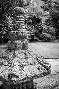 Japanese lantern at the Portland Japanese Garden in Oregon