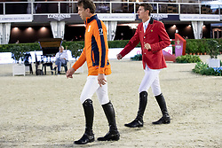 Philippaertsd Nicola, BELSmolders Harrie, NED, Verlooy Jos, BEL<br /> Longines FEI Jumping Nations Cup™ Final<br /> Barcelona 20128<br /> © Hippo Foto - Dirk Caremans<br /> 05/10/2018