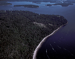 Witherle Woods (Aerial), Castine, Maine, US