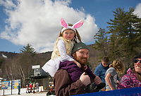 Gunstock's end of season B.Y.O.D.C. event on Easter Sunday.  Karen Bobotas for the Laconia Daily Sun