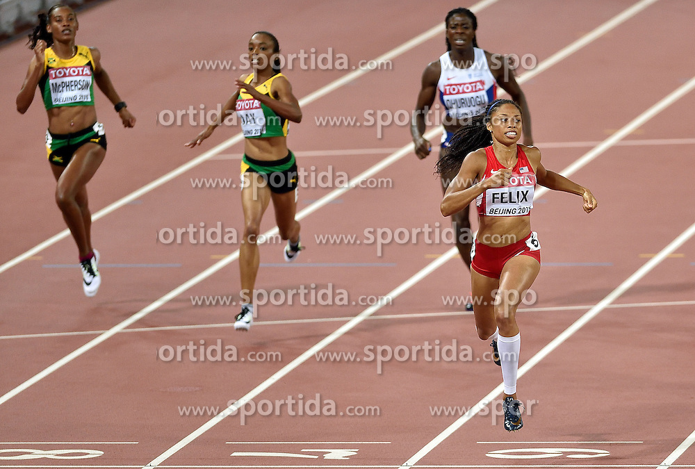 27-08-2015 CHN: IAAF World Championships Athletics day 6, Beijing<br /> Allyson Felix USA winner at 400 m