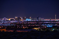 Las Vegas Strip Skyline & Valley @ Night