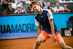 May 14, 2017 - Madrid, Madrid, Spain - DOMINIC THIEM (AUT) reacts after a lost point against Rafael Nadal (ESP) in the final of the 'Mutua Madrid Open' 2017. Nadal won 7:6, 6:4 (Credit Image: © Matthias Oesterle via ZUMA Wire)