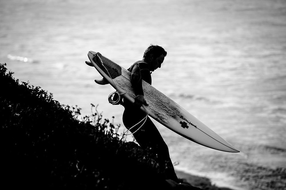 Justin surfing Waddell Creek, CA | G Project Gear