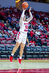 NORMAL, IL - January 03: Kayel Newland gets an open look from just inside the lane during a college women's basketball game between the ISU Redbirds and the Sycamores of Indiana State January 03 2020 at Redbird Arena in Normal, IL. (Photo by Alan Look)