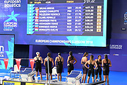 Mathilde Cini, Fanny Deberghes, Marie Wattel and Charlotte Bonnet for France compete on Women's 4X100m Medley Relay final during the Swimming European Championships Glasgow 2018, at Tollcross International Swimming Centre, in Glasgow, Great Britain, Day 8, on August 9, 2018 - Photo Stephane Kempinaire / KMSP / ProSportsImages / DPPI