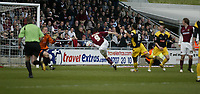 Photo: Marc Atkins.<br /> <br /> Northampton Town v Stockport County. Coca Cola League 2. 17/04/2006. Scott McGleish (C) scores Northampton Town's opening goal,