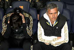 25.01.2012, Stadion Camp Nou, Barcelona, ESP, Copa del Rey, FC Barcelona vs Real Madrid, im Bild Real Madrid's Jose Mourinho // during the football match of spanish Copy del Rey, between FC Barcelona and Real Madrid at Camp Nou stadium, Barcelona, Spain on 2012/01/25. EXPA Pictures © 2012, PhotoCredit: EXPA/ Alterphotos/ Cesar Cebolla..***** ATTENTION - OUT OF ESP and SUI *****