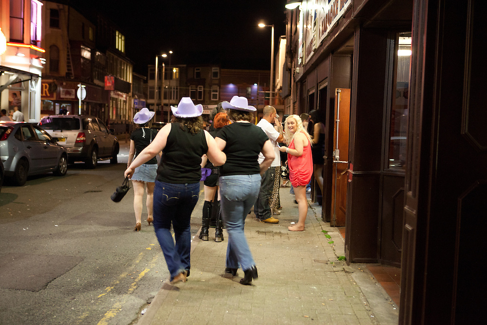 Hen parties in Blackpool, Lancashire, UK, July 2012