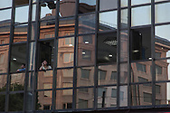 Turkey. Istambul. Sirkeci district, reflection on windows
