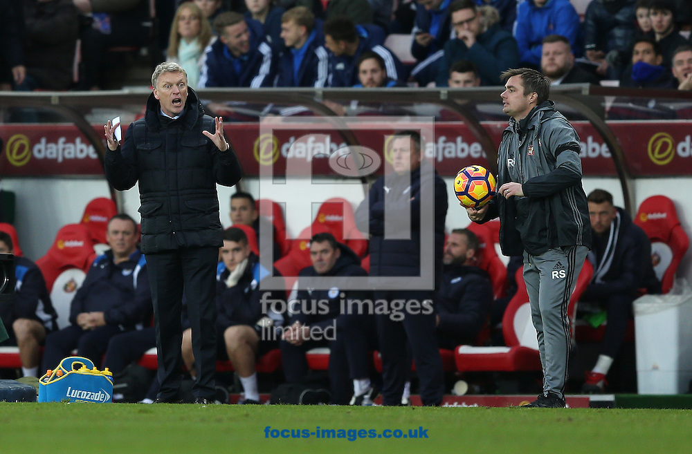 Sunderland manager David Moyes during the Premier League match at the Stadium Of Light, Sunderland<br /> Picture by Christopher Booth/Focus Images Ltd 07711958291<br /> 03/12/2016