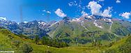 Austria, Salzburg, alpine panorama along side Grossglockner alpine road, Hohe Tauern