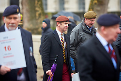 © Licensed to London News Pictures. 03/02/2018. LONDON, UK.  Henry Bolton, UKIP leader, at a Justice of Northern Ireland Veterans parade. The organization is campaigning against the prosecutions of army personnel for actions during the Troubles in Northern Ireland.  Photo credit: Cliff Hide/LNP