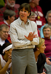 December 15, 2009; Stanford, CA, USA;  Stanford Cardinal Cardinal head coach Tara VanDerveer  during the second half against the Duke Blue Devils at Maples Pavilion.  Stanford defeated Duke 71-55.