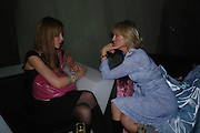 Kate Rothschild and Cosima Somerset. party given by Daphne Guinness for Christian Louboutin  after the opening of his new shopt.  Baglione Hotel. 16 March 2004.  ONE TIME USE ONLY - DO NOT ARCHIVE  © Copyright Photograph by Dafydd Jones 66 Stockwell Park Rd. London SW9 0DA Tel 020 7733 0108 www.dafjones.com