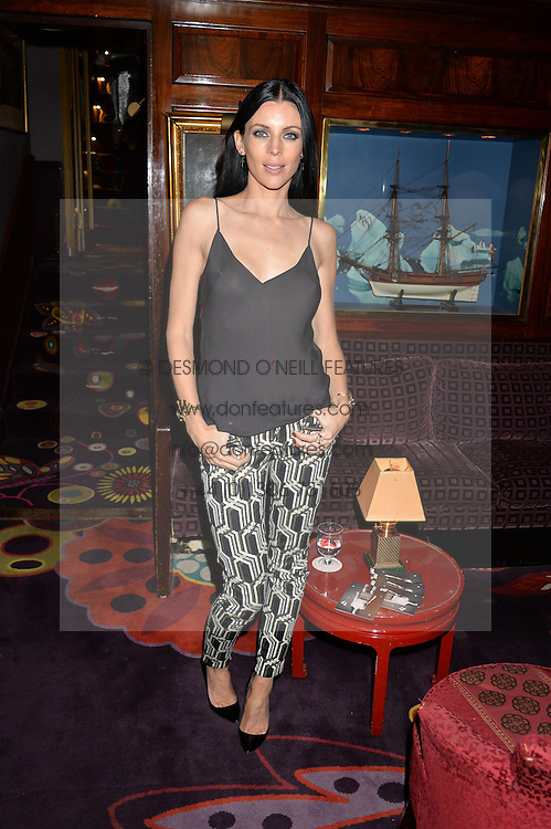 LIBERTY ROSS at a dinner to celebrate the launch of Genetic - Liberty Ross hosted by Liberty Ross and Ali Fatourechi at Annabel's, 44 Berkeley Square, London on 3rd September 2014.