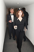 SIR CHRISTOPHER HOGG; DR. MIRIAM STOPPARD,  ( WITH BLACK EYE SUSTAINED GARDENING) Royal Academy Schools Annual dinner and Auction 2012. Royal Academy. Burlington Gdns. London. 20 March 2012.