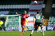 York City's Scot Bennett during the Sky Bet League 2 match between Plymouth Argyle and York City at Home Park, Plymouth, England on 28 March 2016. Photo by Graham Hunt.