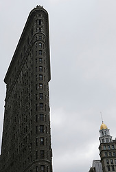 Flatiron Building, Manhattan, New York City. Low angle view