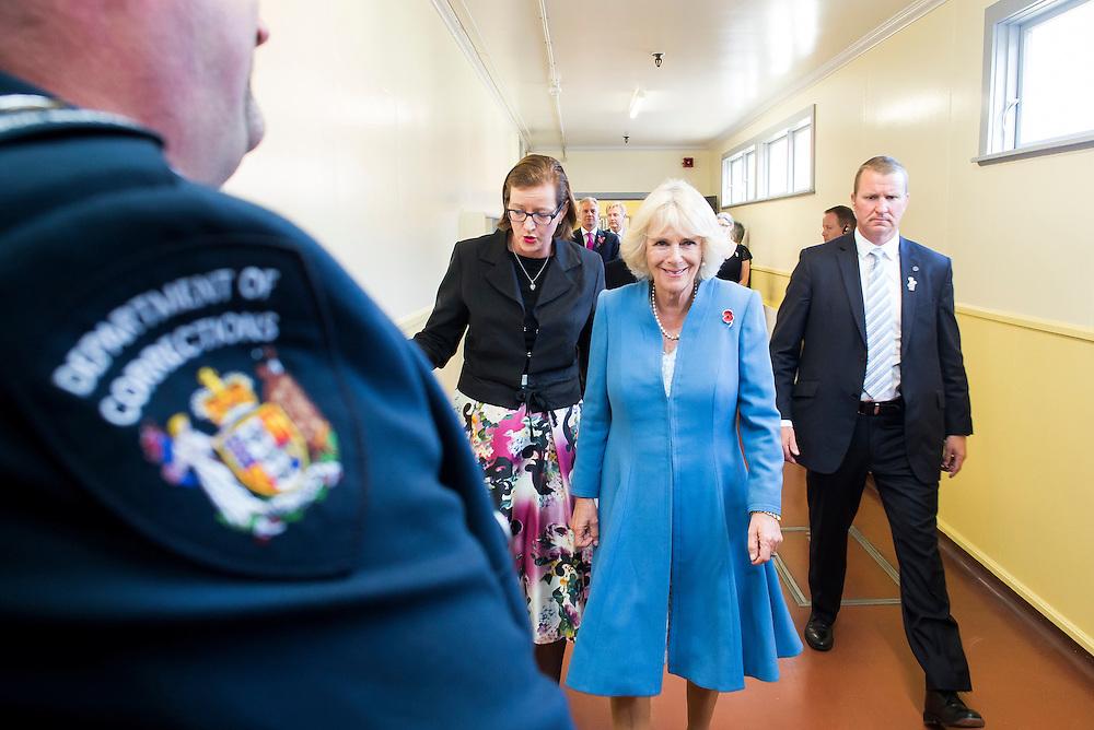 Camilla, Duchess of Cornwall visits inmates at Arohata Womens Prison, Wellington, New Zealand, Saturday, November 07, 2015. Credit:SNPA / DominionPost, Maarten Holl **POOL**