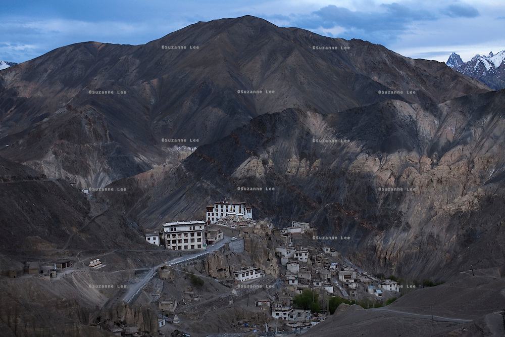 Lamayuru Gompa, perched dramatically on a crag at 3510m, is a Tibetan Buddhist Gompa situated off the Srinagar-Leh Highway, a.k.a. National Highway 1D, is one of the largest and oldest gompa in Ladakh, with a population of around 150 permanent monks resident..*Pre-season Jeep road trip from Delhi to Amritsar, Srinagar, Kargil, Lamayuru, Leh, Khardung La, Tso Moriri and back to Delhi in May 2010. Photo by Suzanne Lee