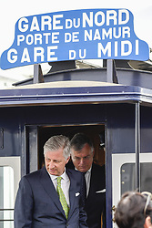 April 30, 2019 - Brussels, Belgium - King Philippe - Filip of Belgium pictured during the presentation of the new trams to celebrate the 150th anniversary of the Brussels trams, Tuesday 30 April 2019, in Brussels. (Credit Image: © Laurie Dieffembacq/Belga via ZUMA Press)