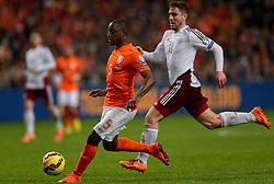 16-11-2014 NED: EK Kwalificatie Nederland - Letland, Amsterdam<br /> Nederland wint in de Arena met 6-0 van Letland / Jetro Willems