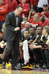 14 February 2015:   Gregg Marshall gets a bit upset during an NCAA MVC (Missouri Valley Conference) men's basketball game between the Wichita State Shockers and the Illinois State Redbirds at Redbird Arena in Normal Illinois