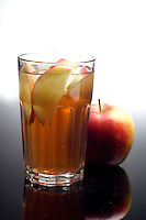 Close-up of apple juice