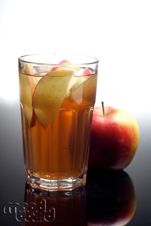 Close-up of apple juice