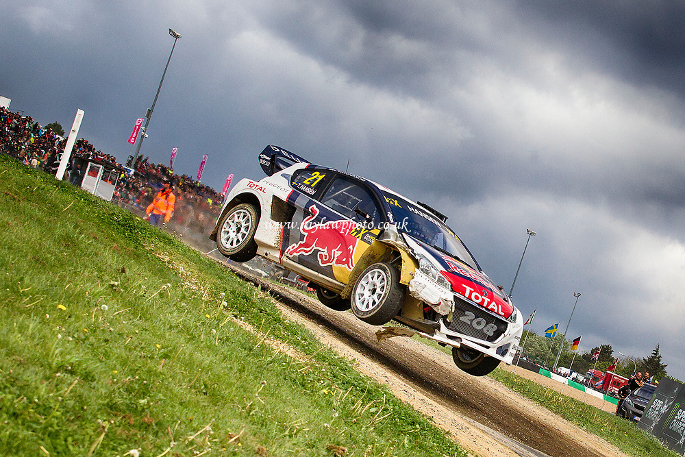Timmy Hansen, Team Peugeot-Hansen drove to his second podium with a second finish at Belgium during WRX 2017 Round Four Race Day at Circuit Jules Tacheny on 14th May 2017