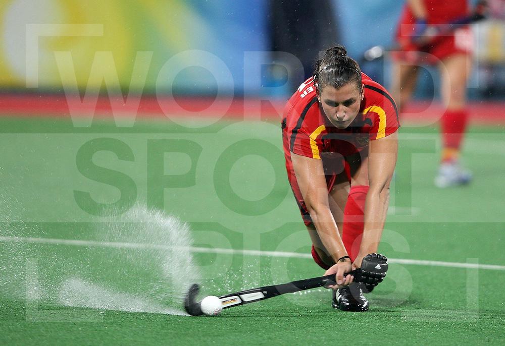 ..Great Britain V Germany at Beijing Olympic Green Hockey Stadium  ..Photo: Grant Treeby/WSP