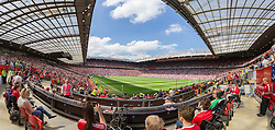 MANCHESTER, ENGLAND - Saturday, August 8, 2015: Disabled seats as Manchester United take on Tottenham Hotspur during the Premier League match at Old Trafford. (Pic by David Rawcliffe/Propaganda)