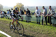 Belgium, November 1 2015:  GB's Nikki Harris during the elite women's race at the Koppenbergcross 2015 cyclocross event.<br />