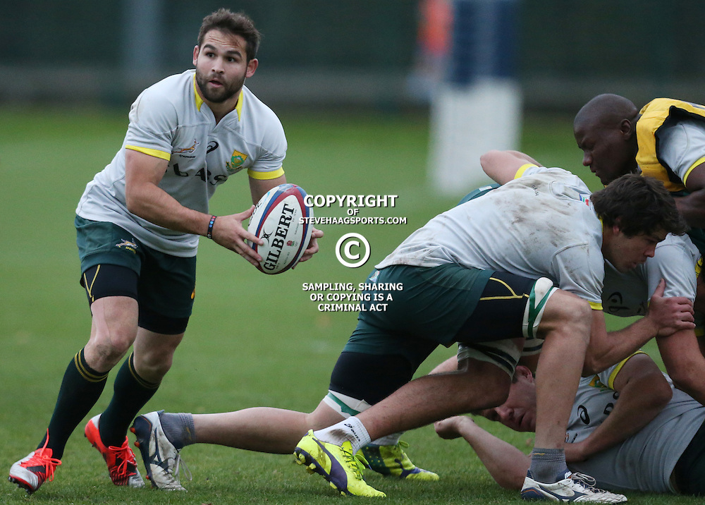 LONDON, ENGLAND - NOVEMBER 11: Cobus Reinach during the South African National rugby team training session at Latymer Upper School Sports Grounds on November 11, 2014 in London, England. (Photo by Steve Haag/Gallo Images)