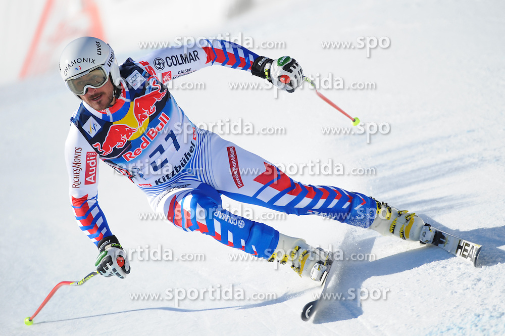 23.01.2013, Streif, Kitzbuehel, AUT, FIS Weltcup Ski Alpin, Abfahrt, Herren, 2. Training, im Bild Guillermo Fayed (FRA) // Guillermo Fayed of France in action during 2nd practice of mens Downhill of the FIS Ski Alpine World Cup at the Streif course, Kitzbuehel, Austria on 2013/01/23. EXPA Pictures © 2013, PhotoCredit: EXPA/ Erich Spiess