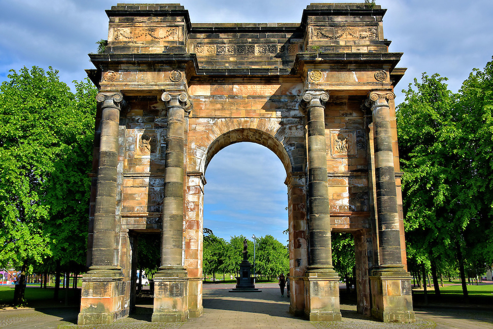 McLennan Arch at Glasgow Greens in Glasgow, Scotland <br />